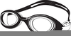 Swimming Goggles Clipart Image