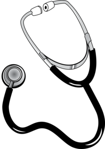 Stethoscope Black White Line Art Coloring Book Colouring Px Image