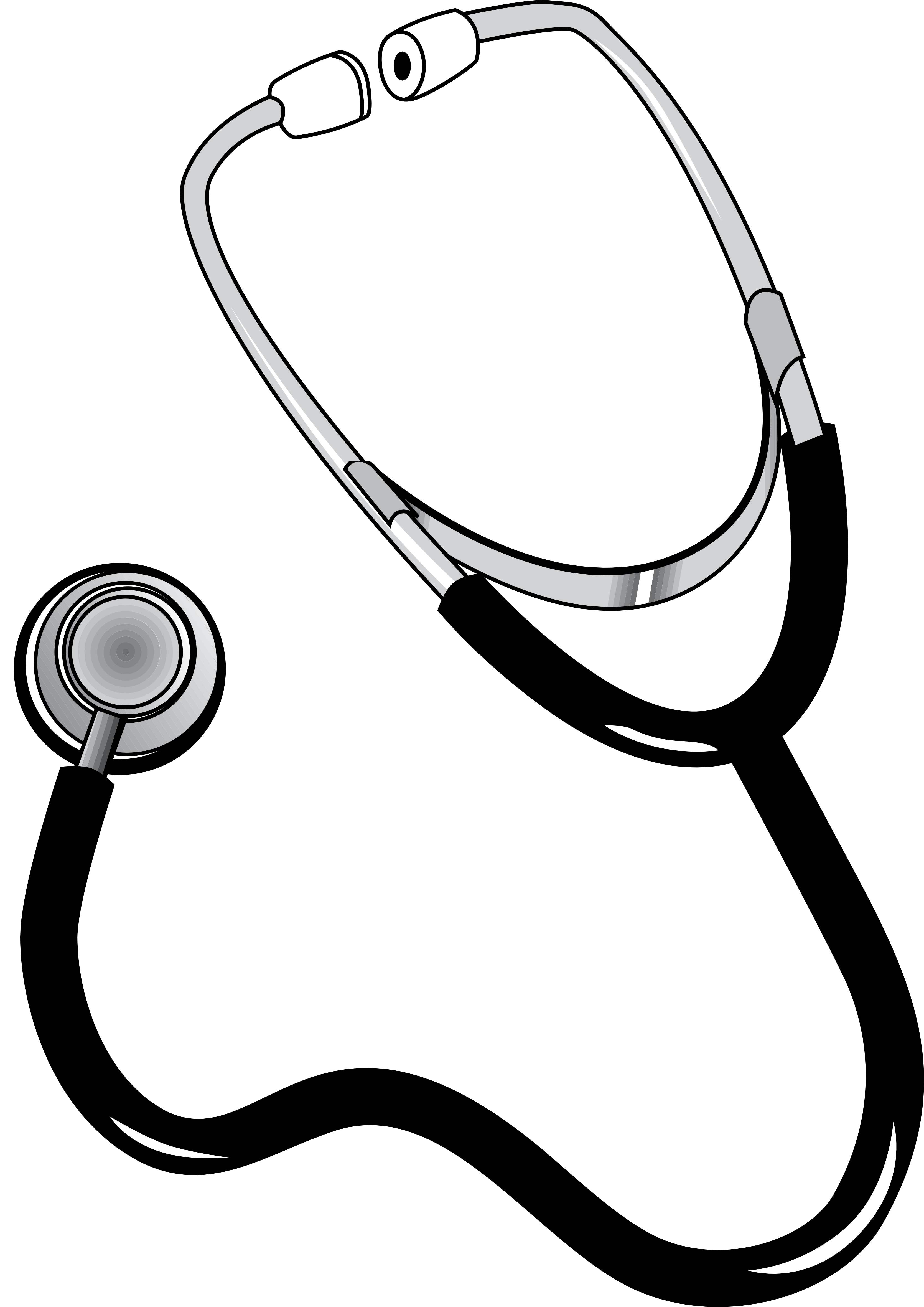 Stethoscope Black White Line Art Coloring Book Colouring Px Free