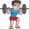 Animated Weightlifting Clipart Image