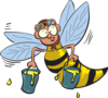 Buzy Honey Bee Clip Art