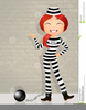 Clipart Of Prisoner With Ball And Chain Image