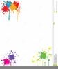 Paintball Splatters Clipart Image
