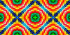 Indian Tribal Pattern Trendy Fashionable Textile Texture Spiritual Motifs Seamless Vivid Lucid Colors Image