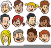 Cartoon Faces Clipart Image