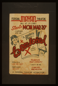 Federal Mayan Theatre [presents] Censored,  A Modern Play   By Conrad Seiler Hilarious 3 Act Comedy. Image