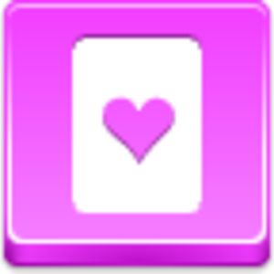 Free Pink Button Hearts Card Image