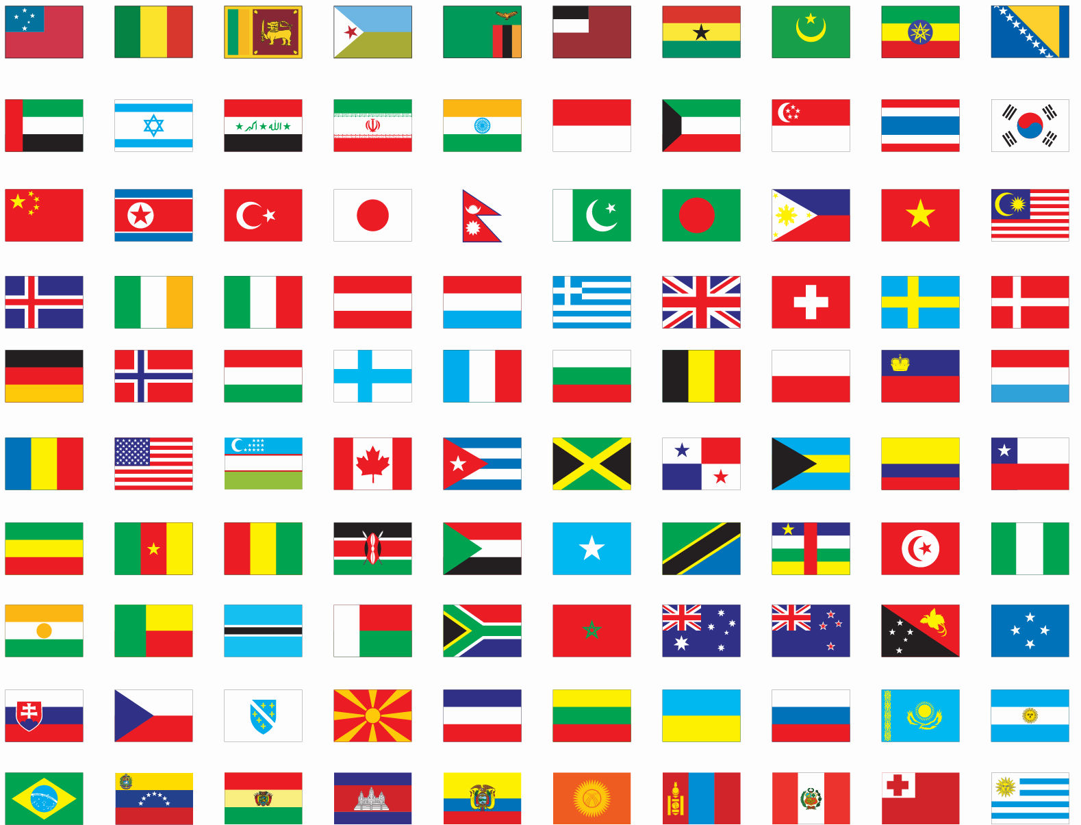 flags of the world banner - photo #17