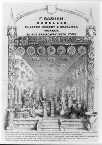 F. Basham, Modeller, Plaster, Cement & Scagliola Worker No. 408 Broadway, New York  / F.j. Palmer. Image