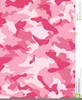 Free Pink Camo Clipart Image