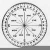 Clipart Compass With Degrees Image