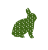 Green Polka Dotted Rabbit Clip Art