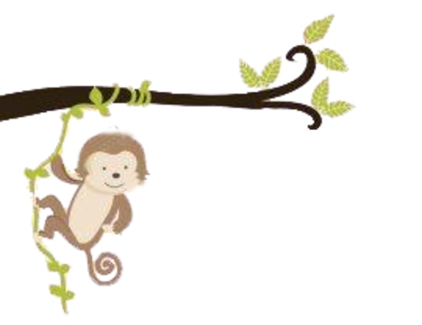 clipart monkey hanging from tree - photo #3