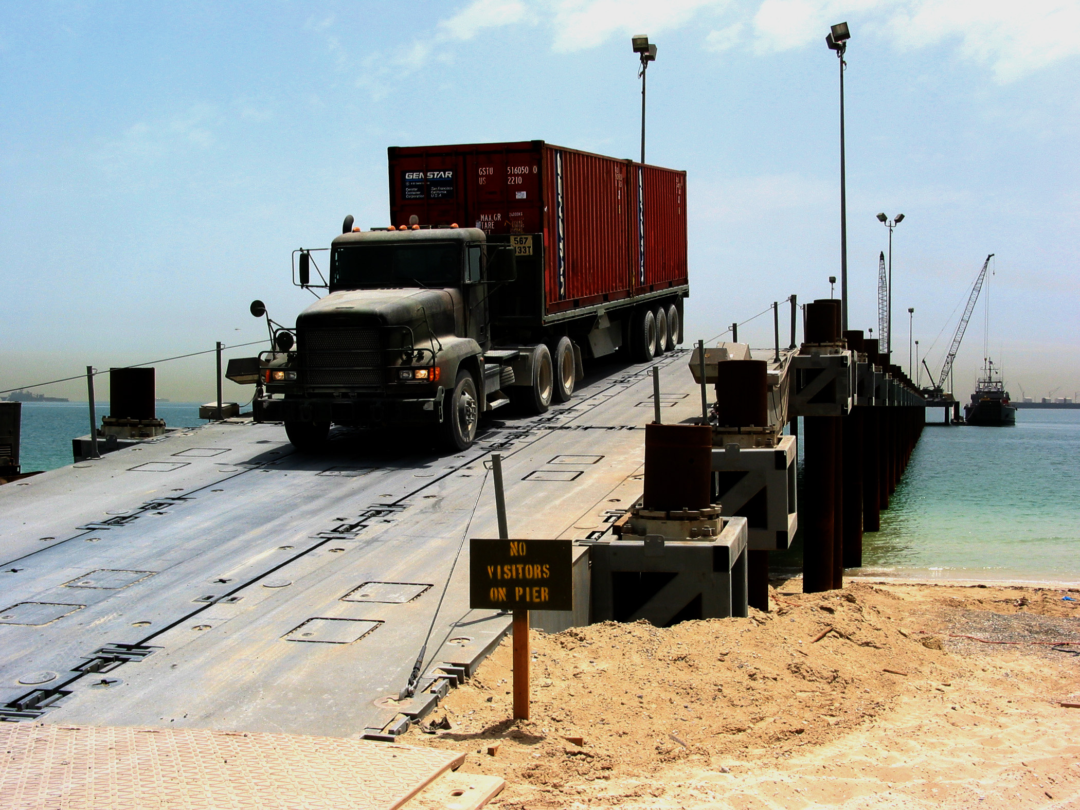 A U.s. Army Transport Vehicle Returns From The U.s. Navy ...