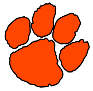 orange paw cut free images at clkercom vector clip