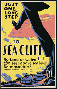 Just One Long Step To Sea Cliff, L.i. By Land Or Water : 250 Feet Above Sea Level : No Mosquitos! Image