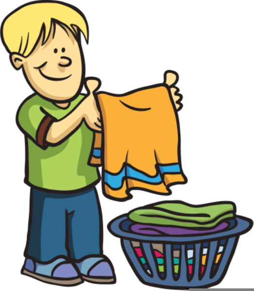 Put Clothes Away Cartoon ~ Boys chores clipart free images at clker vector