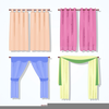 Show Curtains Clipart Image
