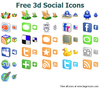 Free 3d Social Icons Image