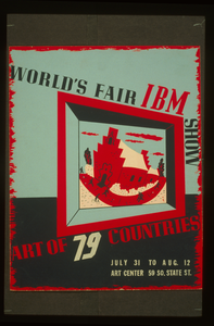 World S Fair Ibm Show Art Of 79 Countries. Image