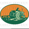 Old Fashioned Plow Clipart Image
