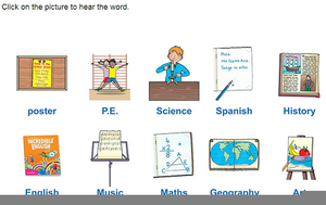 Clipart Pictures School Subjects Image