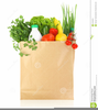 Groceries In Bag Clipart Image