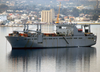 The Military Sealift Command (msc) Large, Medium-speed Roll-on/roll-off Ship Usns Bob Hope (t-akr 300) Sits At Anchorage In Souda Harbor. Image