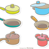 Cartoon Pots And Pans Clipart Image
