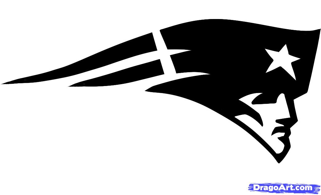 Patriots Logo Black And White How to draw the patriots logo