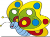 Free Butterfly Cartoon Clipart Image