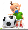 Football Baby Clipart Image