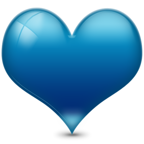 heart d shiny blue free images at clkercom vector