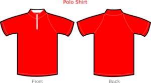 Polo Shirt Red With Zipper Clip Art