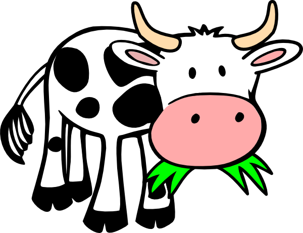 Cow Eating Grass clip artCute Funny Cow Cartoon