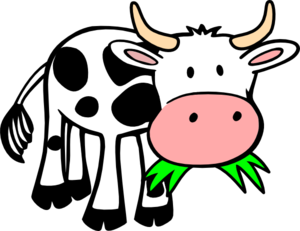 Cow Eating Grass Clip Art