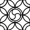 Leaded Glass Pattern Outline Clip Art