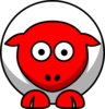 Sheep Looking Straight White Withred Face And White Nails Clip Art