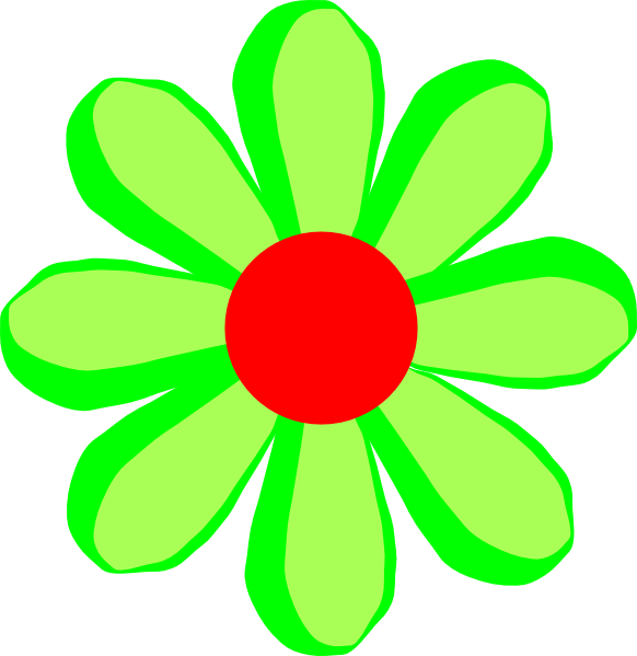 free green flower clipart - photo #26