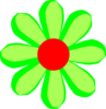 Flower Cartoon Green Clip Art