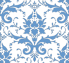 Light Blue Damask Clip Art