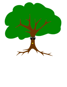 Tree With Face Clip Art