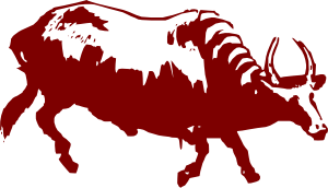 Buffalo With Horns Clip Art