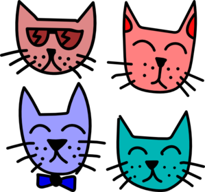 Graffiti Cats Clip Art