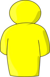 Person Buddy Symbol Yellow Clip Art