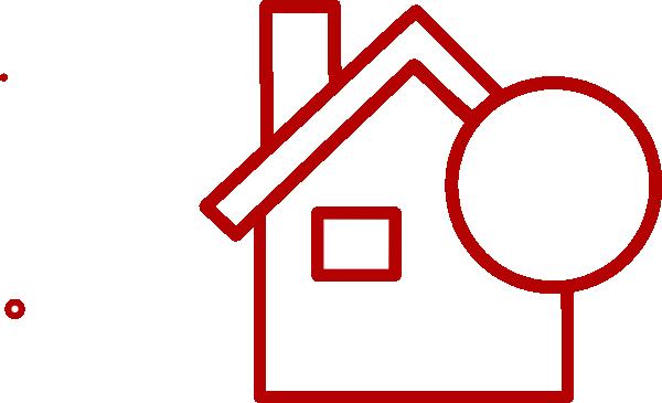 Red House Square Transparent Clip Art At Clker Com