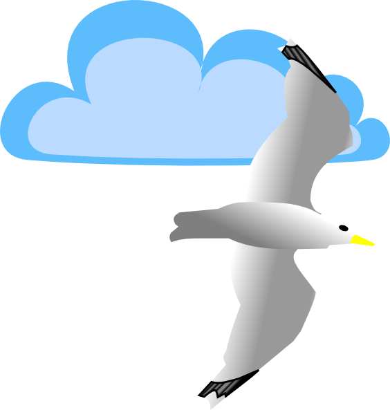 Seagull And Cloud Clip Art at Clker.com - vector clip art online ...
