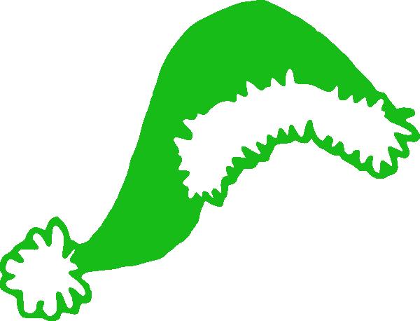 Santa hat green. Clip art at clker