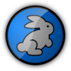 Rabbit In Blue Clip Art
