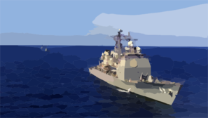 Uss Vincennes (cg 49), Uss Curts (ffg 38), And Htms Naresuan (ffg 421) Conducts Training Operations During The Thailand Phase Of Cooperation Afloat Readiness And Training (carat) Clip Art